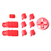 PiBoy DMG Button, D-pad and Power Switch Kit - Red